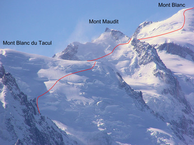 Mont Blanc by the 3 Monts traverse from the Aiguille du Midi