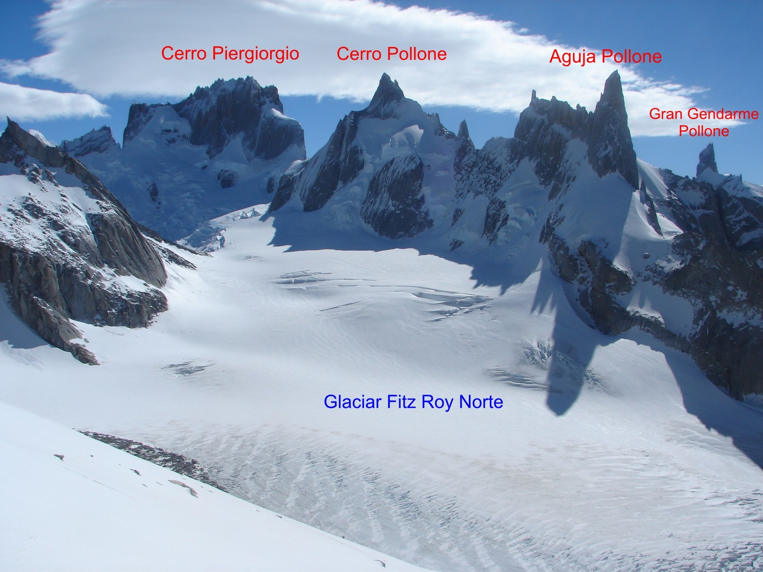 Summits to the W of Fitz Roy