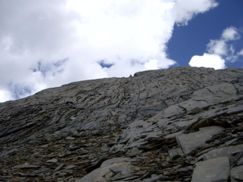 Une partie de la descente vue du bas
