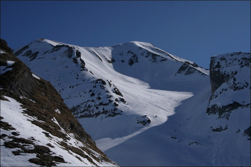 Mont Charvin, face W