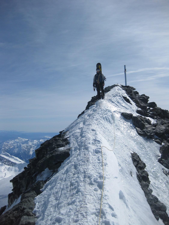 Strahlhorn, redescente du sommet
