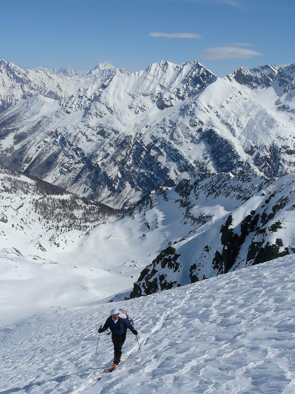 L'arrivée sur le glacier de Freduaz (Louïs Blanche, Val d'Aoste)