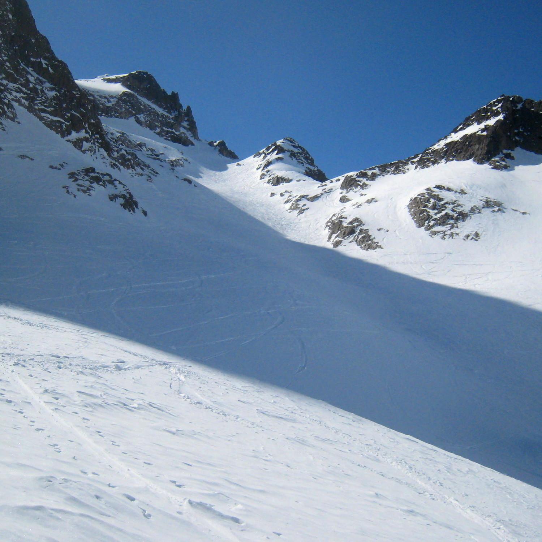 Pointe Alphonse Favre et glacier du Mort