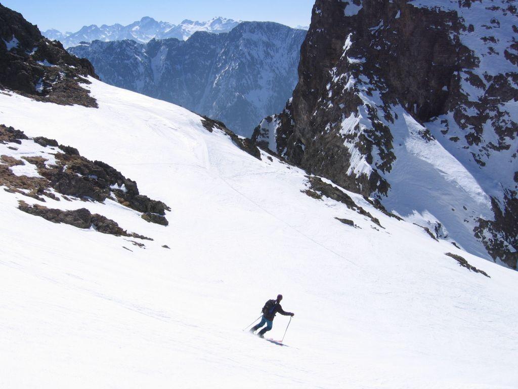 Grand Sorbier : au retour , dans le haut de la descente du sommetde la petite Vaudaine