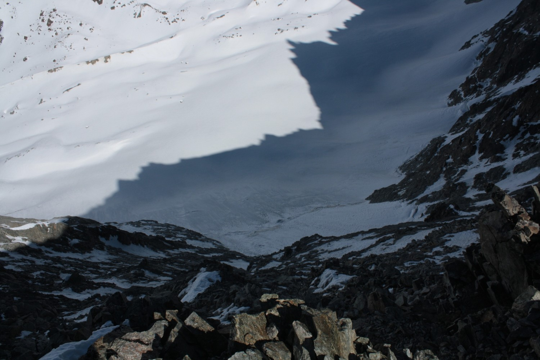 Le versant N de la Selle du Flambeau des Ecrins est complètement sec!