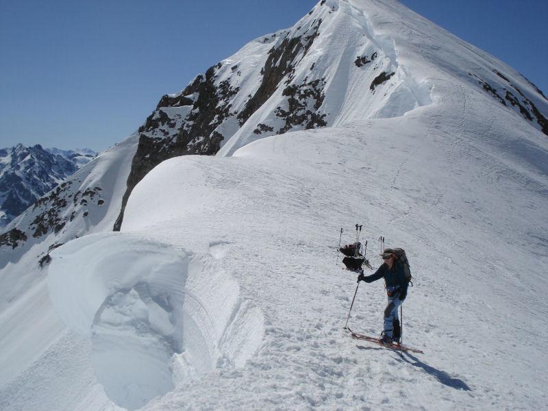 Pene Blanque: arrivée au Col d'Oncet