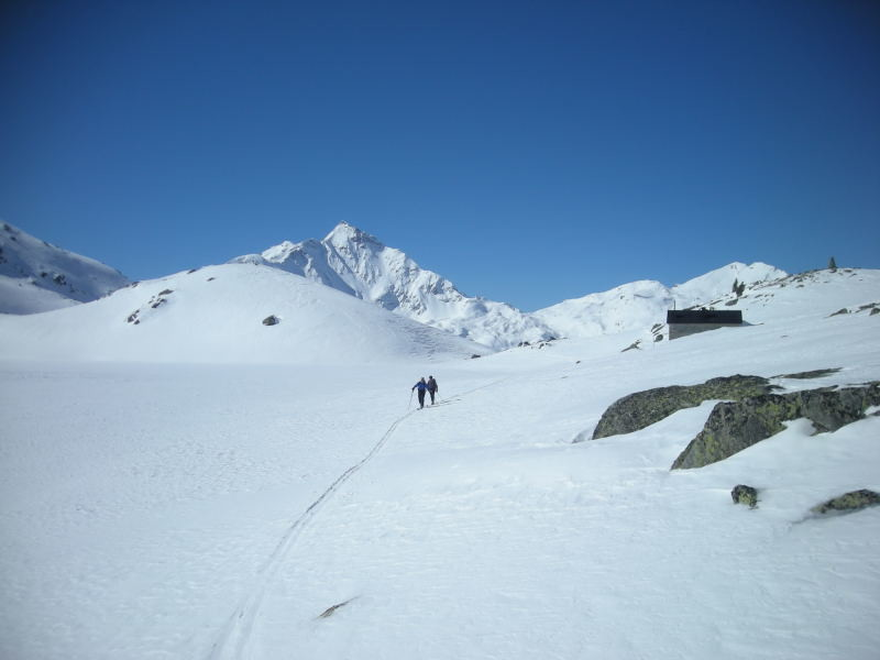 En montant au Mittaghorn, vers la Seehütte
