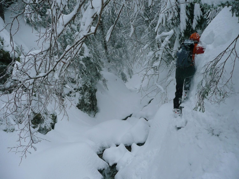 Ski acro à la descente