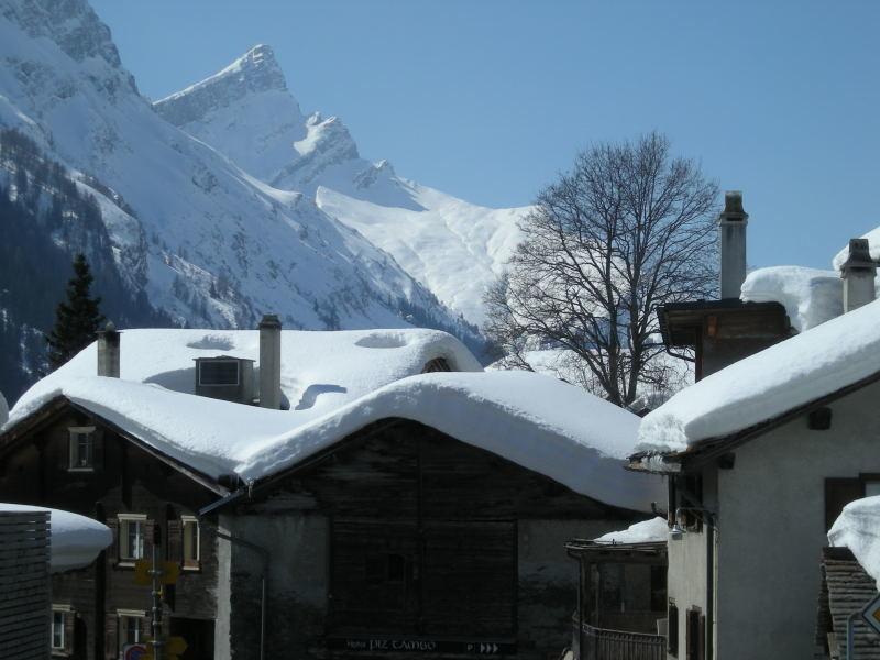 Vue de l'Einshron et du Wannagrat depuis Splügen