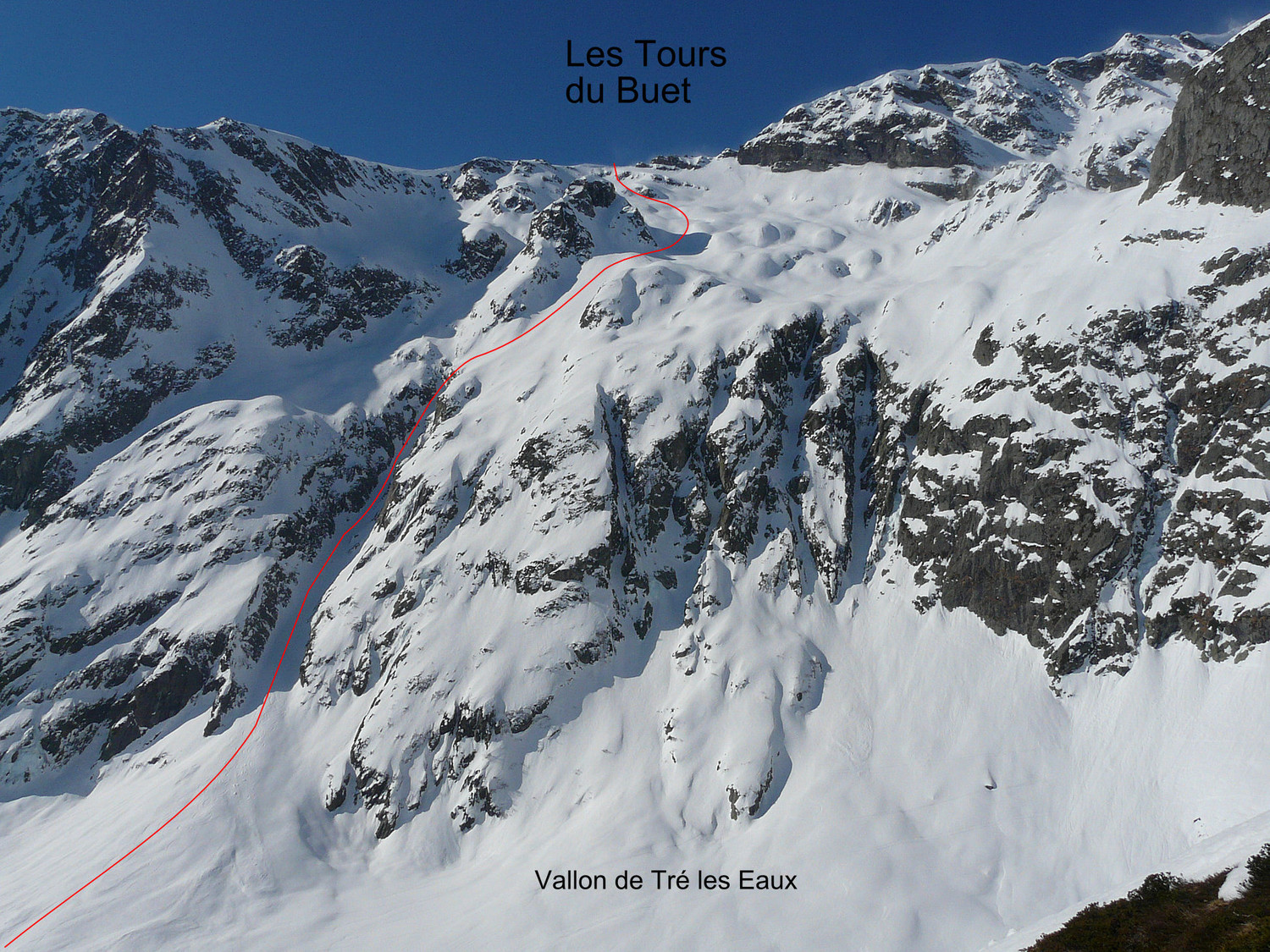 Les Tours : Couloir NE du pointement 2555