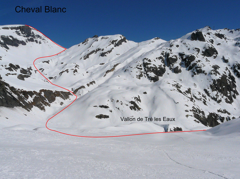 Le Cheval Blanc (Emosson) par le vallon de Tré les Eaux