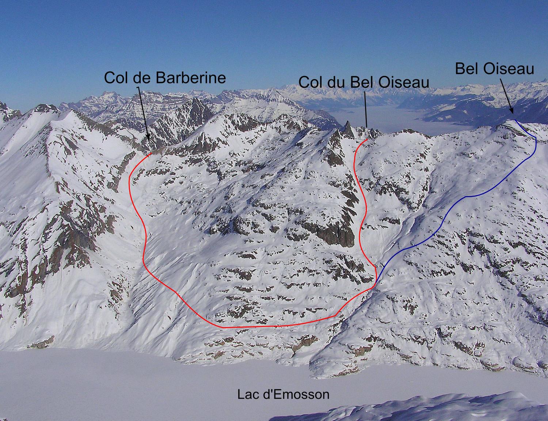 Entre le col de Barberine et Bel Oiseau ou le col du Bel Oiseau