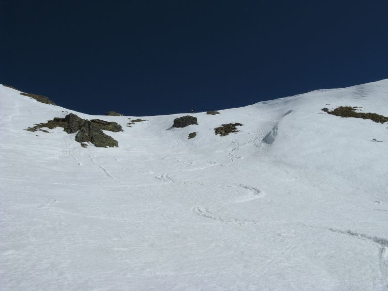 Monte Ponteranica: il ripido tratto finale.
