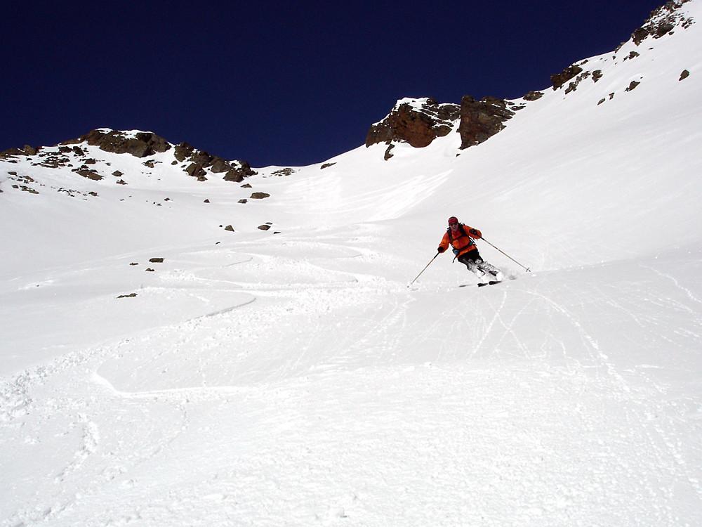 Enrico in discesa su fantastica neve...