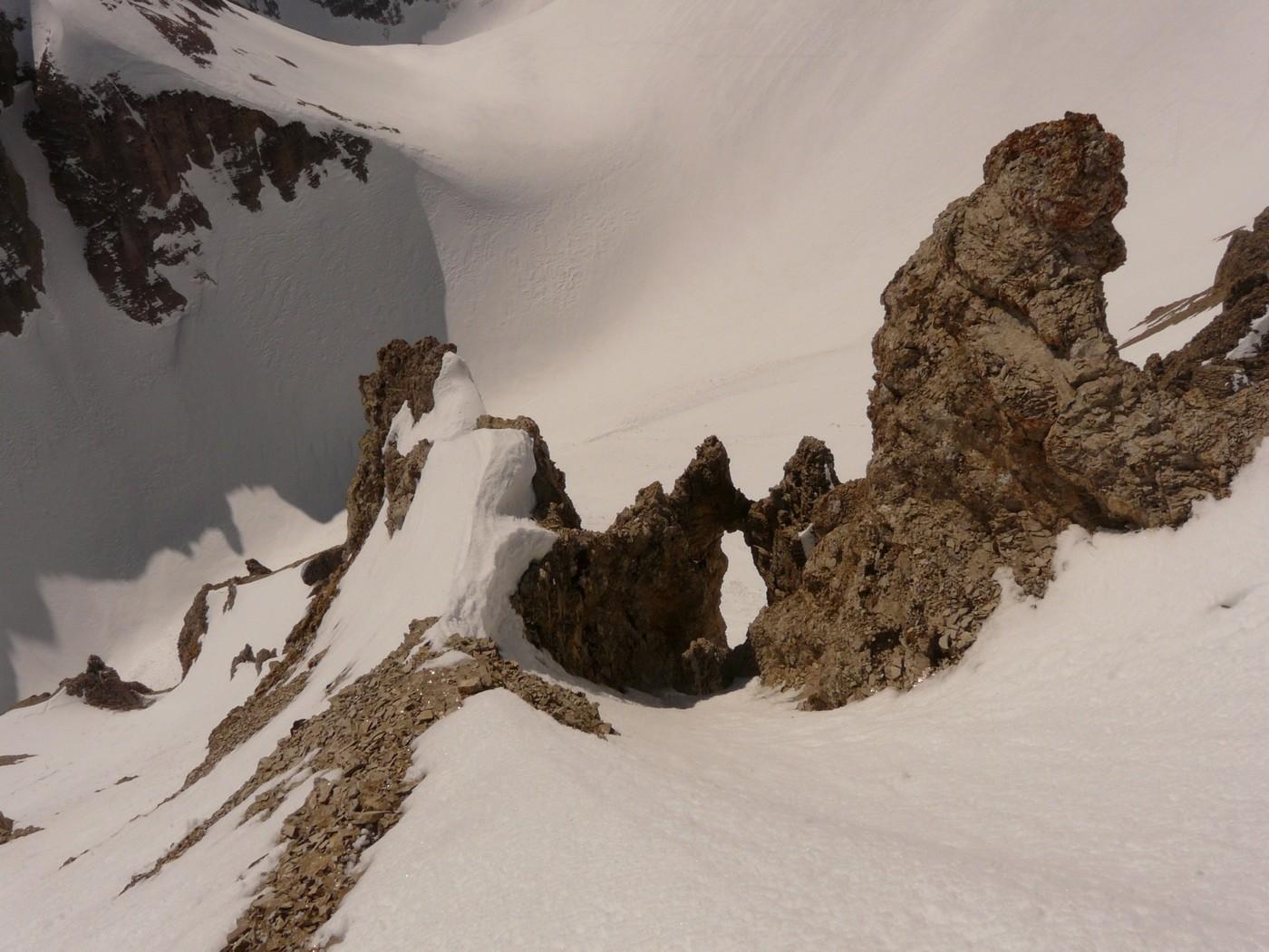 Malpasset (couloir S) - au dessus de l'arche de la Fuvelle