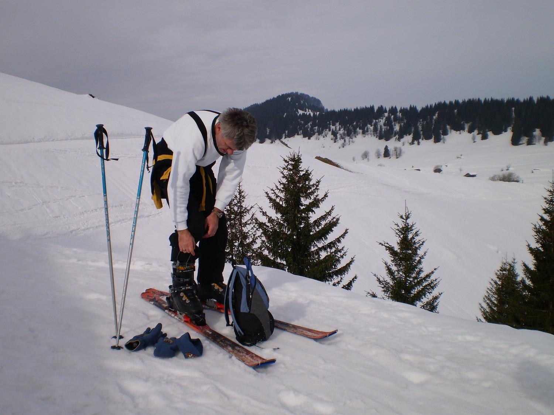 au départ, çam arche comment les skis de rando ???