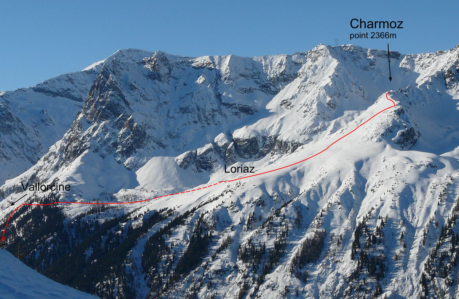 Le Charmoz (point 2366m) (Loriaz, Vallorcine)