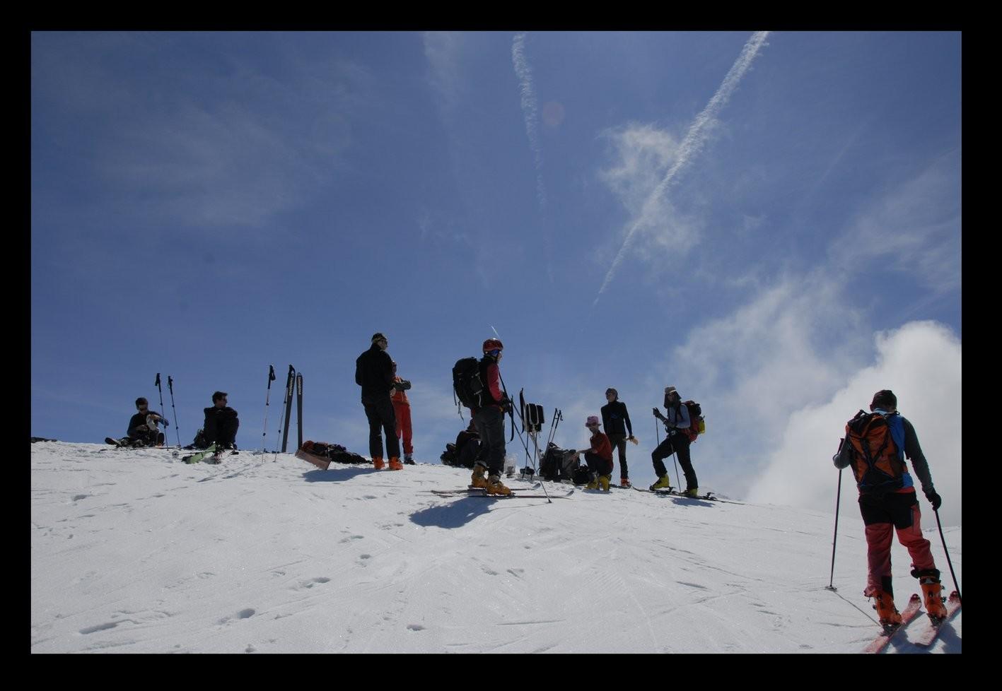 Et l'arrivée au sommet, presque frais et dispo !