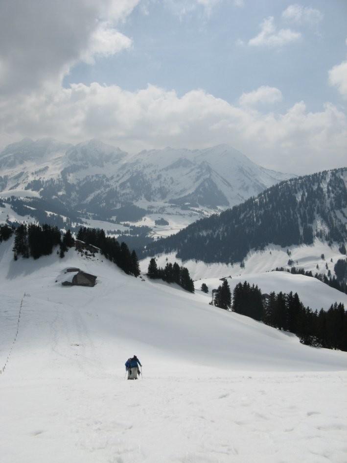 Monts Chevreuils: la montée finale, courte mais raide