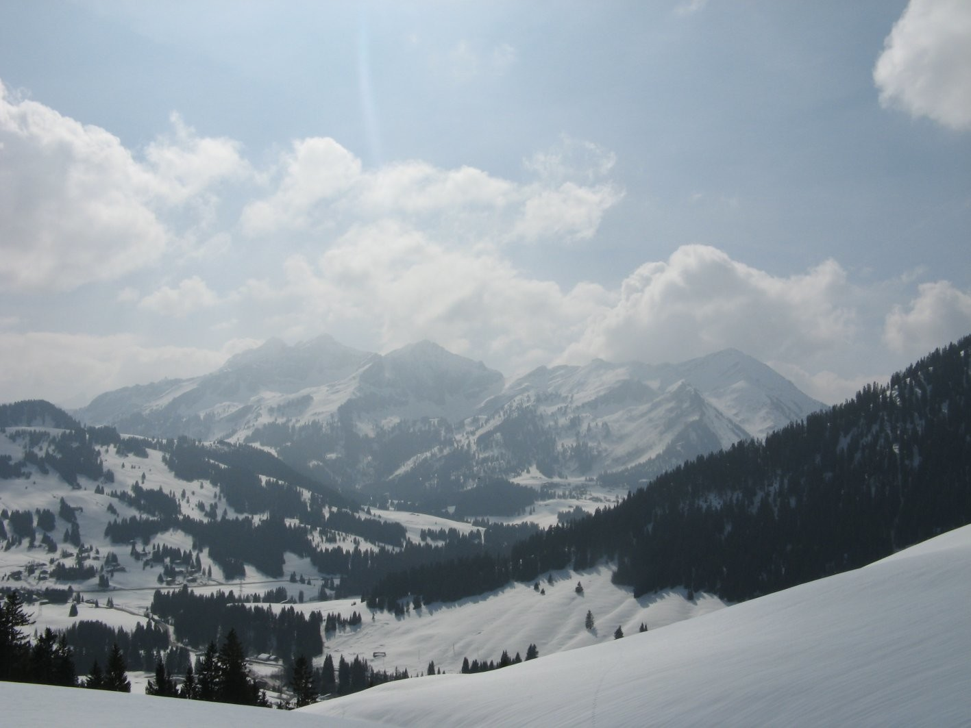 Depuis les Monts Chevreuils: Pic Chaussy, Châtillon, Tarent, Para, etc,