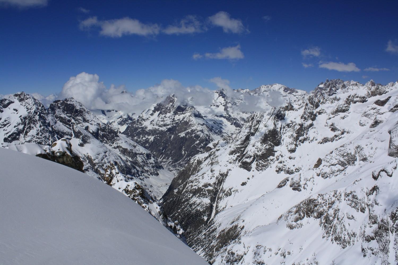 Du haut du Glacier Long, vers le NW