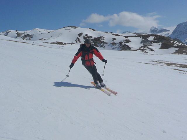 Sourire de Yannik...la neige est excellente