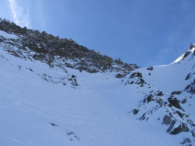 Le haut du couloir N, pointe de Chaborgne