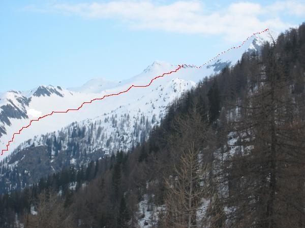 Parte alta dell'itinerario al Pizzo Massari