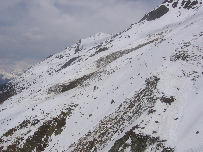 I pendii dove si traversa dopo gli alpeggi oggi....!!!