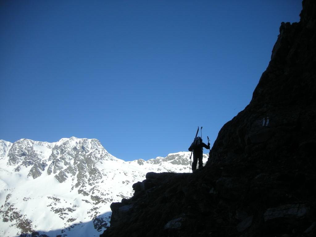 En montant au Col de Vasevay, à contre jour