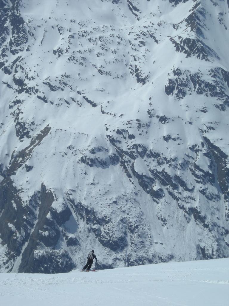 Patrick dans la descente du Col de Vasevay