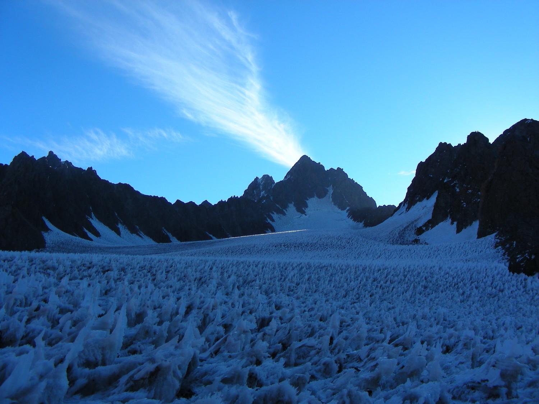 La parte superior del glaciar