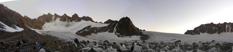 Nuestro campamento en el glaciar.