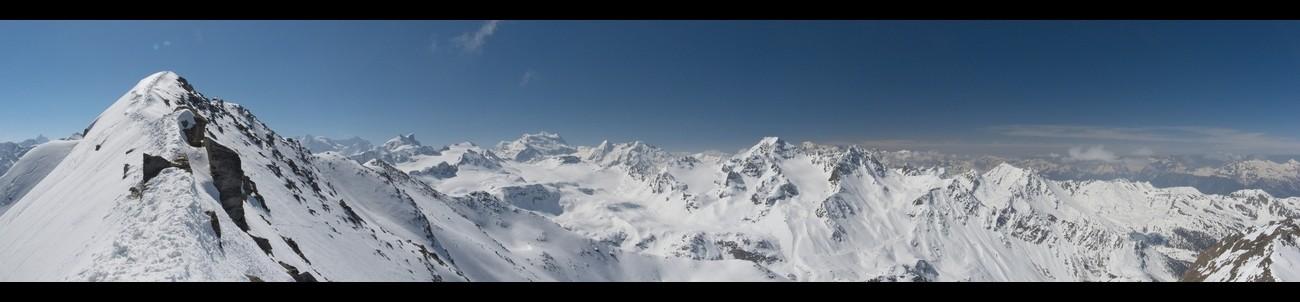 Panorama depuis Le Metailler (antécime)