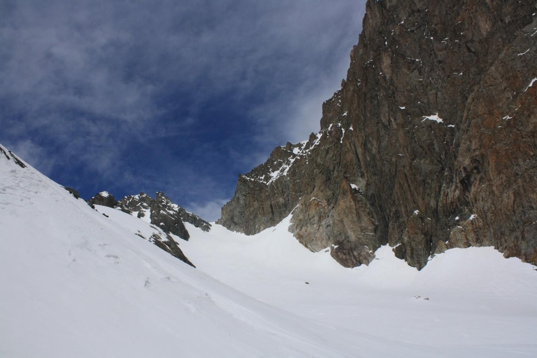 Le Col de la Lavey vu du Glacier de l'Ane