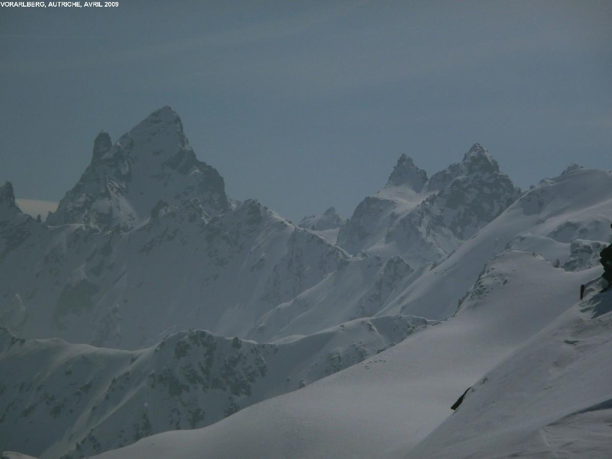 Groupe du Piz Buin (Silvretta), vu du Schneeberg (Vorarlberg)