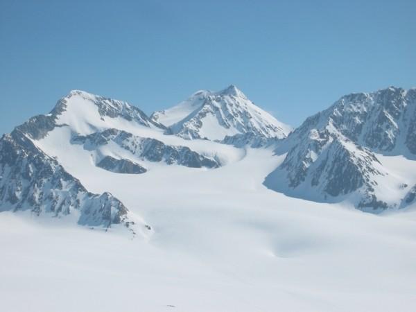 Salendo all'Hochvernagt Sp. Vista sulla Wildspitze e Il Gr. Vernagtferner