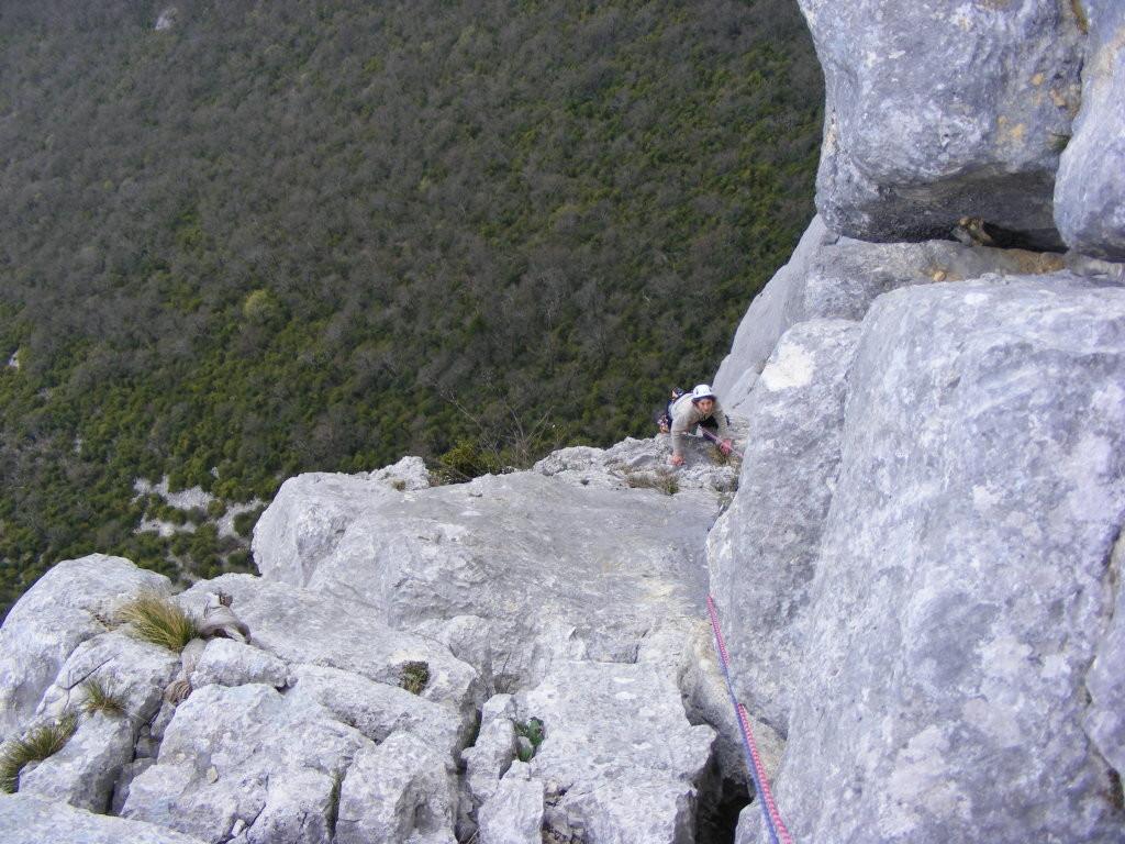 Mamourine sort de la partie dure de L10, presque au sommet!