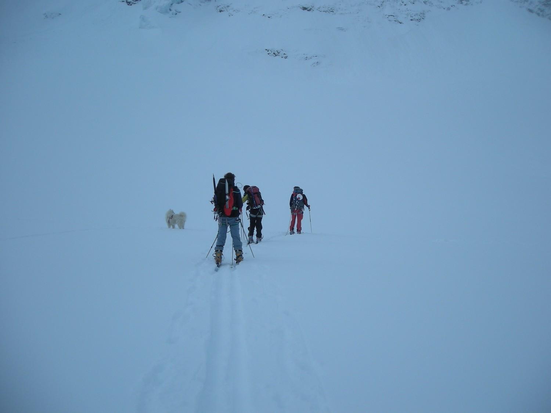 Sur le glacier du haut arolla avant d attaquer le col de l Evèque