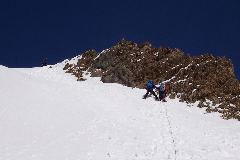 pente de neige au dessus ABC vers 4500m
