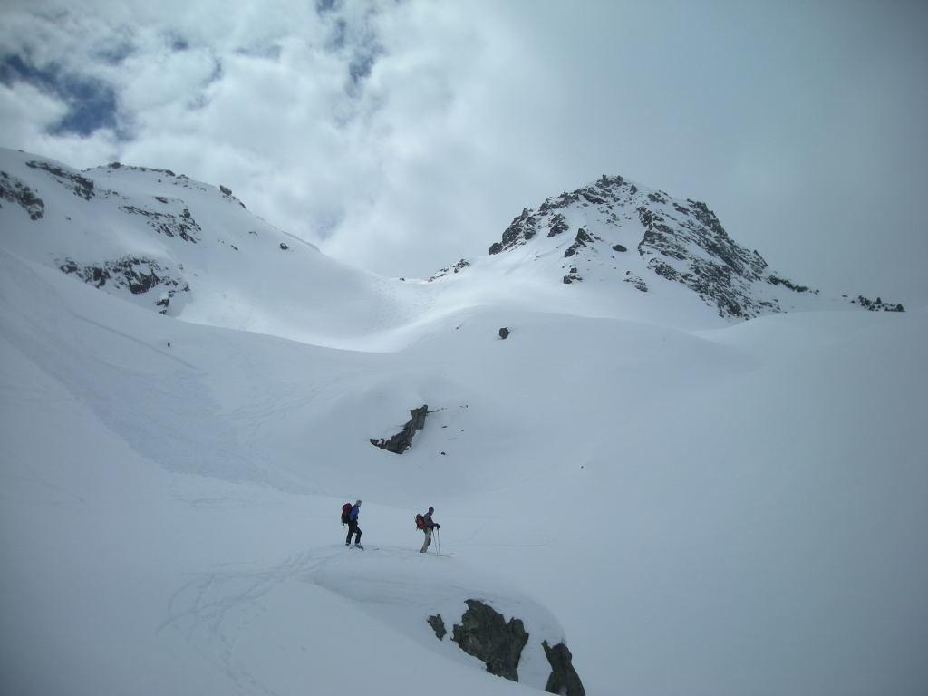 La descente depuis le Passo di Valdeserta