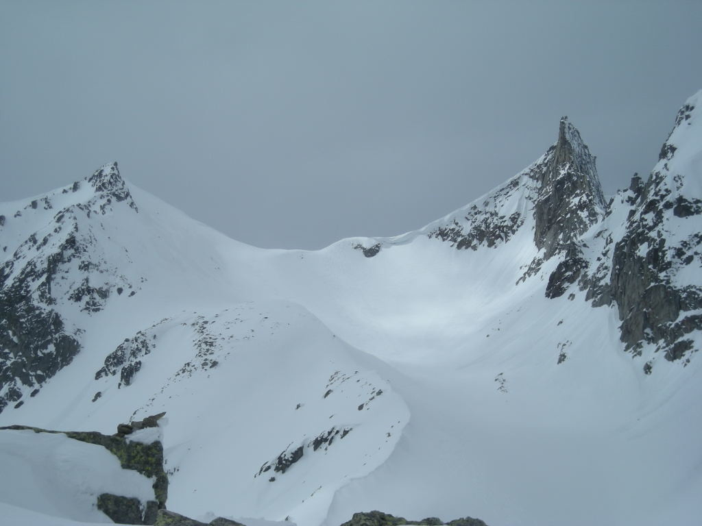 Vue sur le Gross Schinhorn, versant E