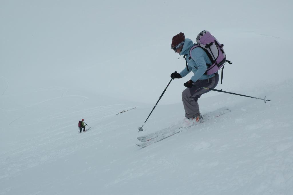 Dans la descente du Gandhorn