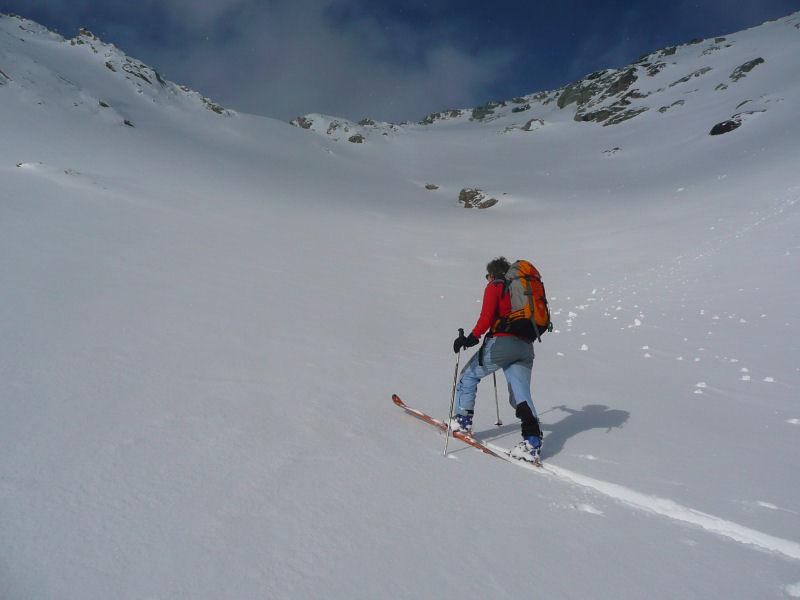 Au pied du petit passage raide vers 2700 m