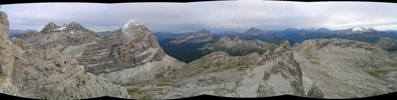 Panorama sud de la Via Tomaselli