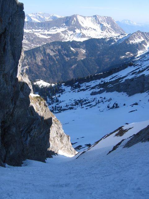 Couloir N des rochers de la Sallaz
