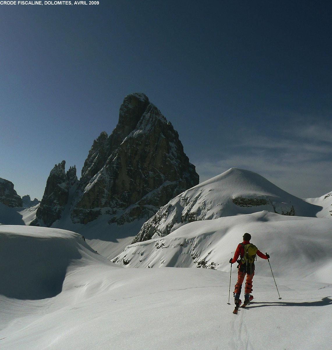 Zwölferkofel (Dolomites de Sesto), en montant vers les Crode Fiscaline