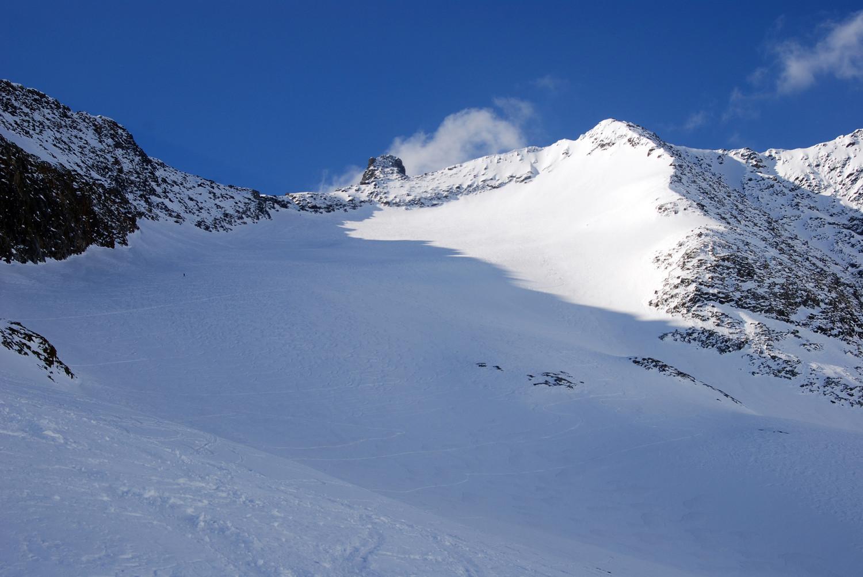 Il Rorspitzli 3220 m ed il Kartigelfirn.