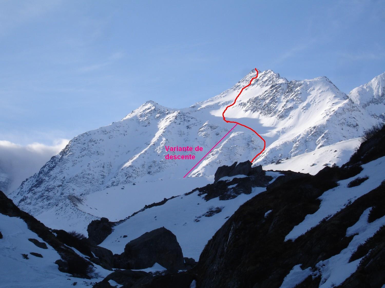 Mont de la Gouille, face Nord
