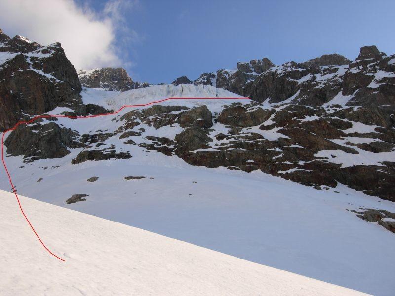 Accés Glacier de l'Ailefroide : iti suivi pour passer les séracs